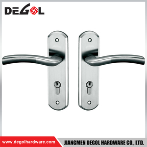 BP1003 Top Quality Stainless Steel Fireproof Interior Solid Lever Door Handles with Plate