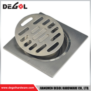 Door Handle With Feet Shower Square Bathroom Floor Drain Cover Aluminum
