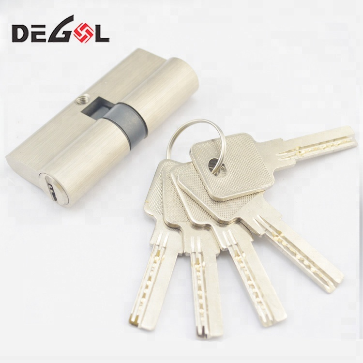 Brass Euro Profile Double Open Cylinder Door Lock