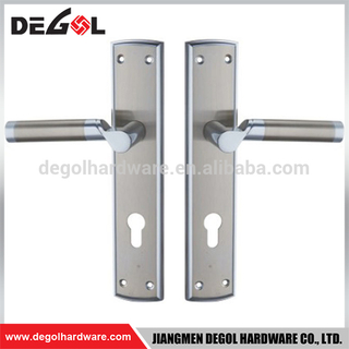 Top quality stainless steel residential heavy duty solid lever ss plate door handle