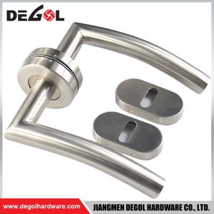 LH1012-1 Tube stainless steel lock sets door handle with special escutcheon