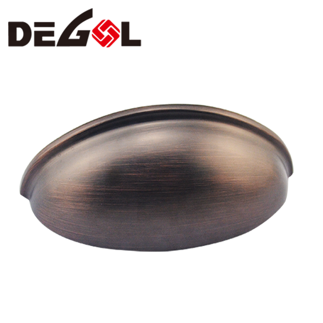 Solid stainless steel half moon door pull