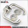 Tube Lever U Shape Chrome Bathroom Door Handles