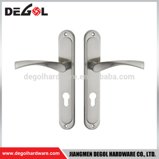 Apartment front door stainless steel door handle with back plate