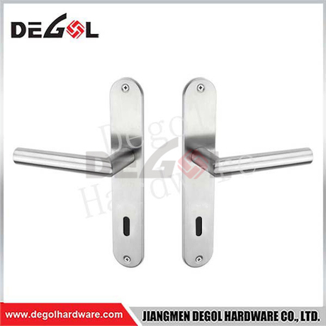 Stainless Steel Door Pull Handle with Plate