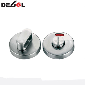 Metal thumb turn indicator bathroom door lock for public toilet