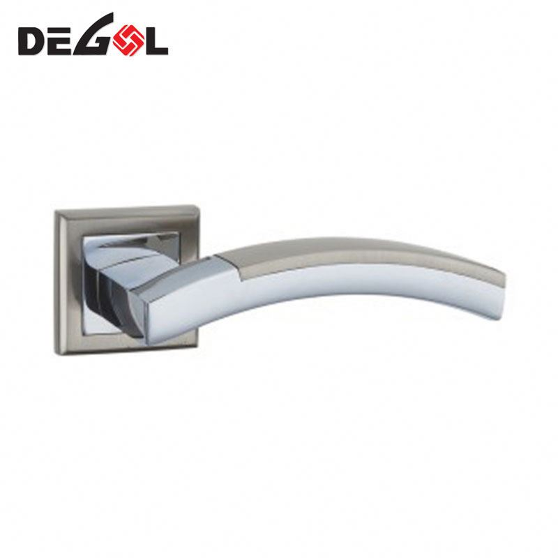 Cast solid door lever chrome door handle lock lever type metal door handle