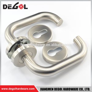 Double Sided Stainless Steel Tube Lever Door Handles