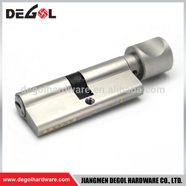 Brass high security types of euro profile thumb turn euro lock cylinder