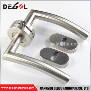 Tube stainless steel lock sets door handle with special escutcheon