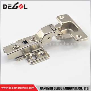 Hot sale half overlay iron fix on kitchen furniture hydraulic carpentry cabinet hinges