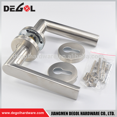 China supplier double sided stainless steel residential apartment heavy duty solid door handle lever set