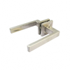 China supplier double sided stainless steel gold color door handle