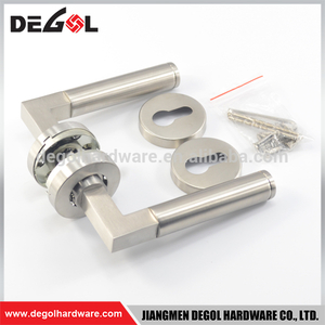 Hot Sale stainless steel solid lever type knobs and door handles