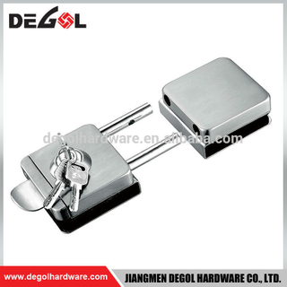 tempered glass door lock with latch
