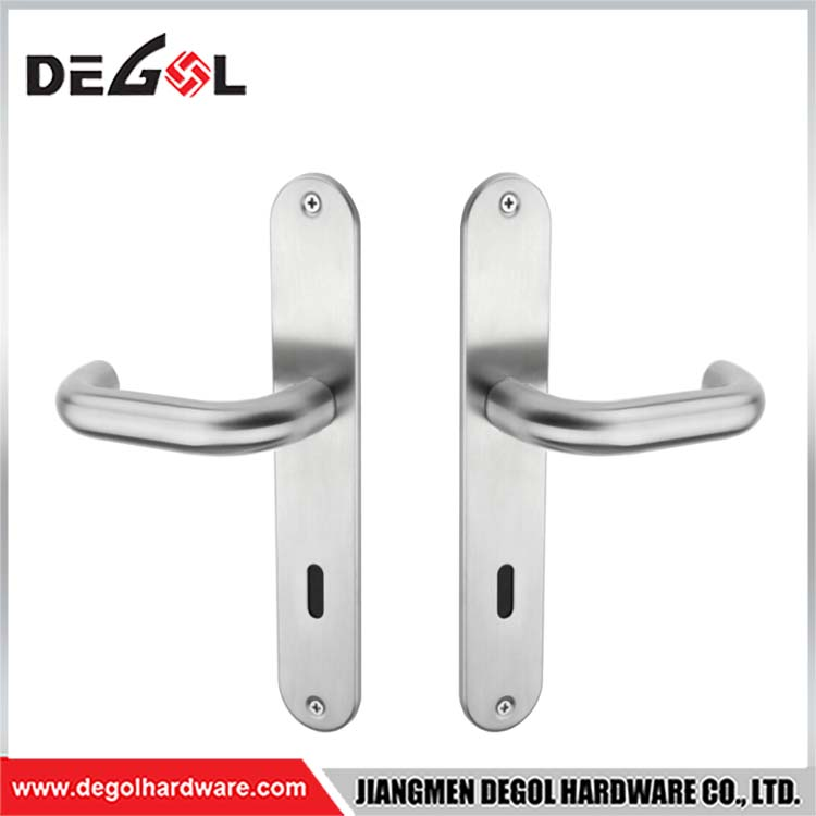 China Factory Chrome Square Indoor Door Handles Big