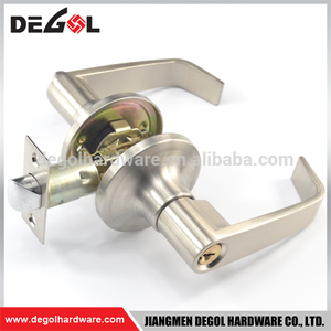 High end zinc alloy safety entrance tubular exterior door handles locks