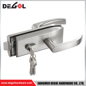 Durable stainless steel sliding glass door latch