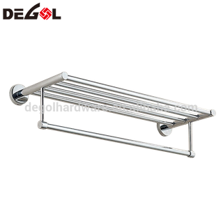 Stainless steel double layers bathroom folding towel rack