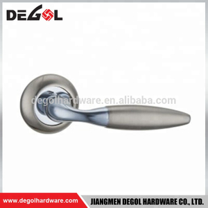 Hot sale zinc alloy interior room luxury solid lever chrome square door handles