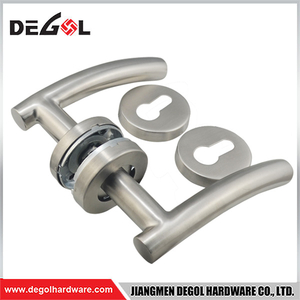 LH1009 Stainless Steel American Style U Shape Tubular Entrance Lever Door Handle