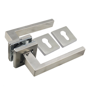 stainless steel 304 lever square door handle for wooden door