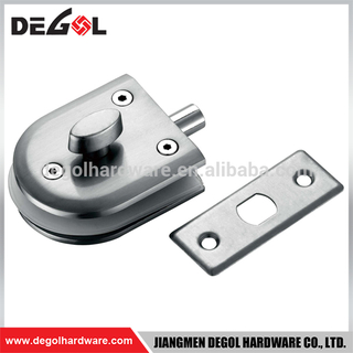 Top quality high security double sided stainless steel glass door handle lock