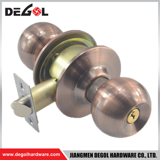 BDL1041 Double Handle Office Door Security Lock Interior Antique Copper Door Knob