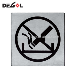 Stainless Steel No Smoking Sign Door Plate for Shopping Mall