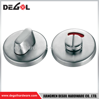 Stainless steel tubular knob toilet door indicator lock