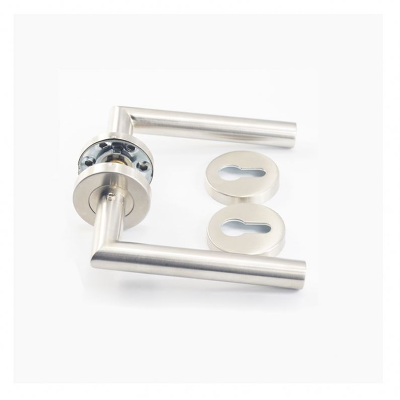 Chinese wholesale stainless steel double sided tube lever european interior door handle