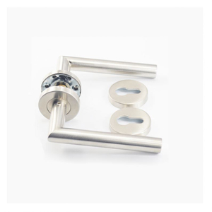 Die-Casting Solid italy style popular stainless steel 304 satin lever type door handle on clip rose