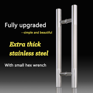 New style stainless steel sliding glass door hotel project pull handle
