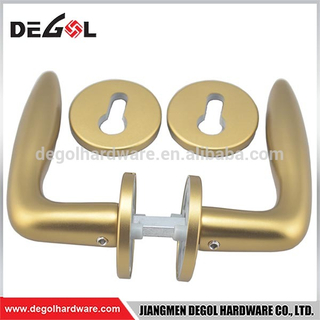 Satin Brass Stainless Steel Tube Door Lever Door Handle for Door
