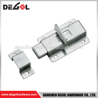 new China make European style stainless steel toilet partition door lock