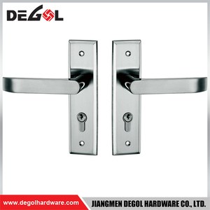 BP1002 Apartment front door stainless steel door handle with back plate