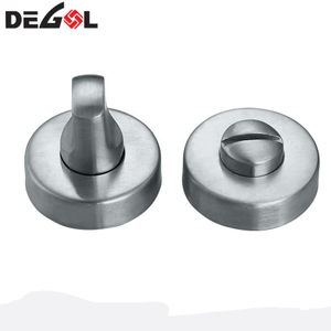 Stainless steel bathroom thumb turn toilet partition door lock