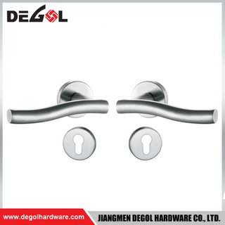 LH1014 Stainless Steel Solid Front Door Handle And Lock Set