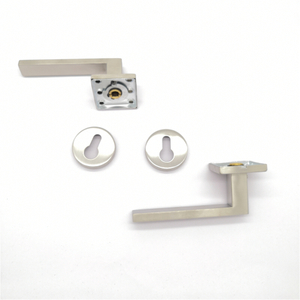 Durable stainless steel 304 lever square door handle for wooden door