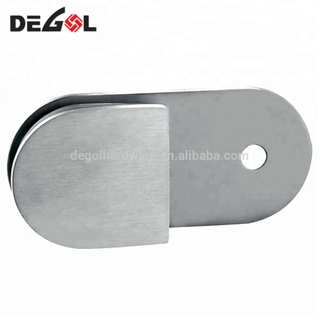 90 degree stainless steel clips to glass clamp
