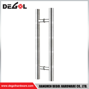 DP1008 modern stainless steel H shape sliding interior cheap pull handle glass door