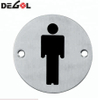 Stainless Steel WC Door Sign Plate