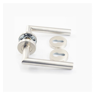 New style stainless steel solid lever rustic door handles on rosette