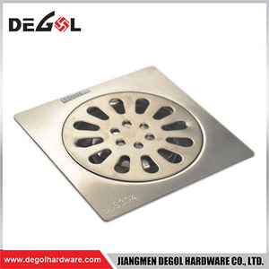 Door Handle With Tube Floor Drain With Square Tile Insert