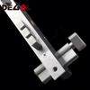 Good quality stainless steel bicolor ss door handle lock with plate