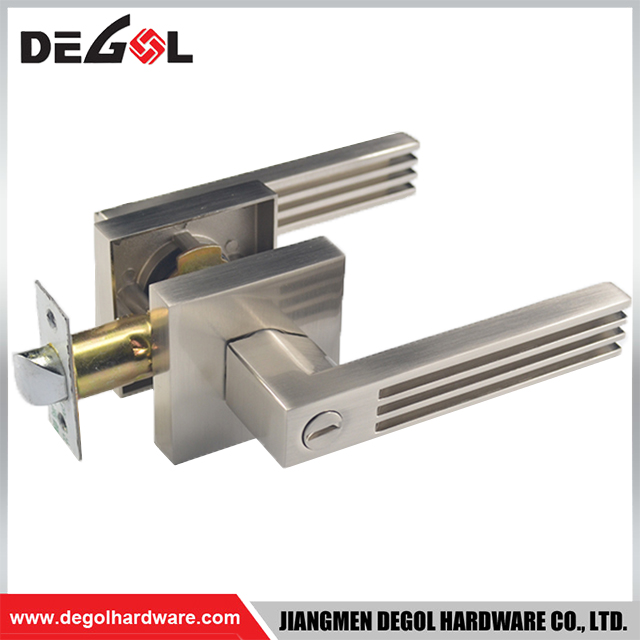 Bedroom And Bathroom Privacy Satin Nickel Pull Door Lock Lever Handle