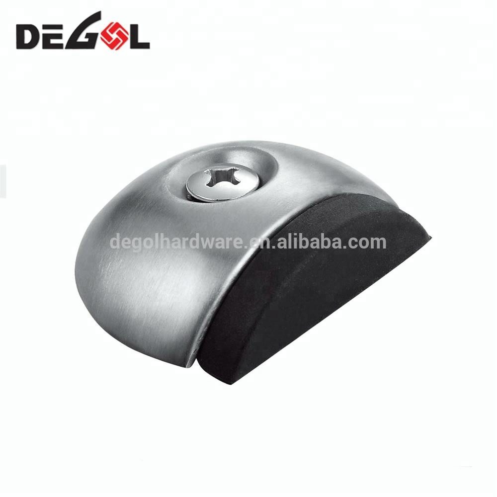 Solid stainless steel half moon door stopper