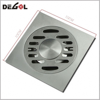 Door Handle With Feet Brass Shower Square Bathroom Floor Drain Cover
